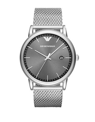 Emporio Armani Dress Luigi Analog Bracelet Watch-SILVER-One Size