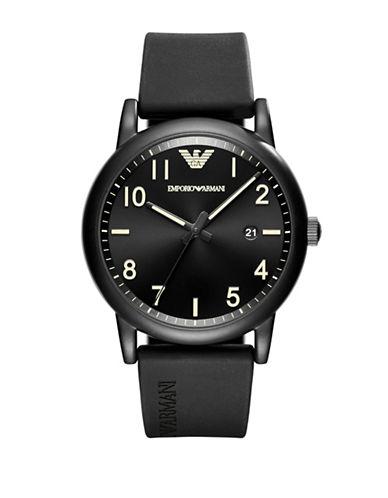 Emporio Armani Sport Luigi Analog Strap Watch-BLACK-One Size
