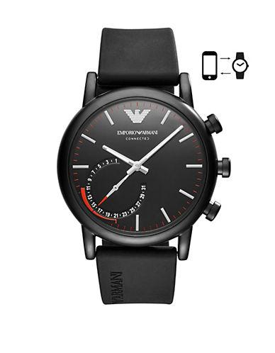 Emporio Armani SE1 ART3010  Luigi 43 Hybrid Smartwatch-BLACK-One Size