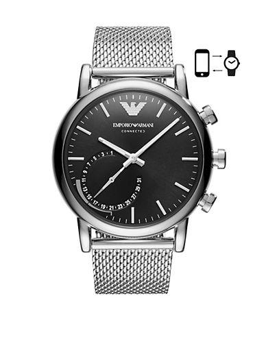 Emporio Armani SE1 ART3007  Luigi 43 Hybrid Smartwatch-SILVER-One Size