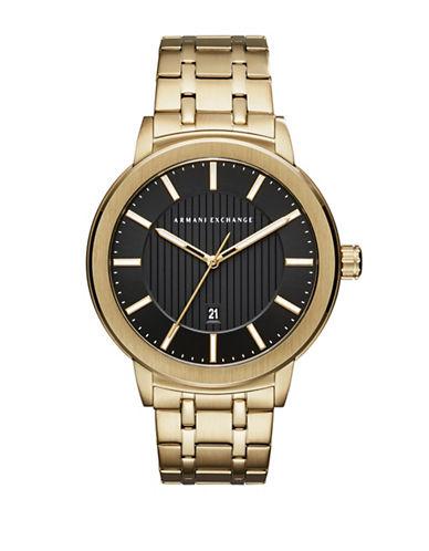 Armani Exchange Street Maddox Analog Bracelet Watch-GOLD-One Size
