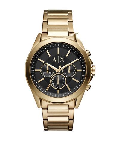 Armani Exchange Dress Drexler Chronograph Bracelet Watch-GOLD-One Size