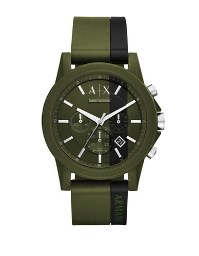 Armani Exchange Active Outerbanks Chronograph Strap Watch-GREEN-One Size