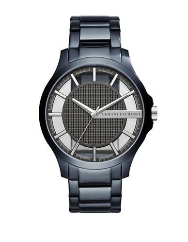 Armani Exchange Dress Hampton Analog Bracelet Watch-BLUE-One Size