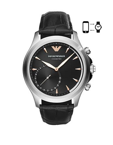 Emporio Armani ART3013 Alberto Hybrid Smartwatch-BLACK-One Size
