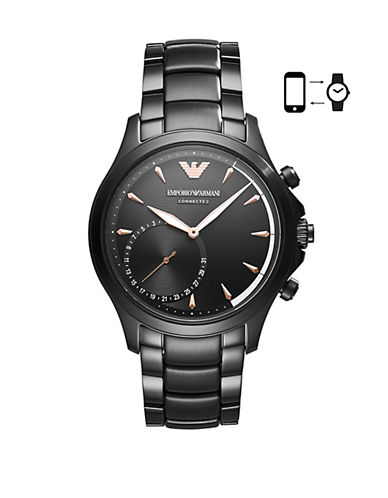 Emporio Armani ART3012 Alberto Hybrid Smartwatch-BLACK-One Size