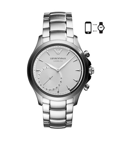 Emporio Armani ART3011 Alberto Hybrid Smartwatch-SILVER-One Size