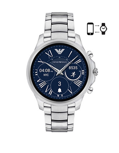 Emporio Armani ART5000 Alberto Touchscreen Smartwatch-SILVER-One Size