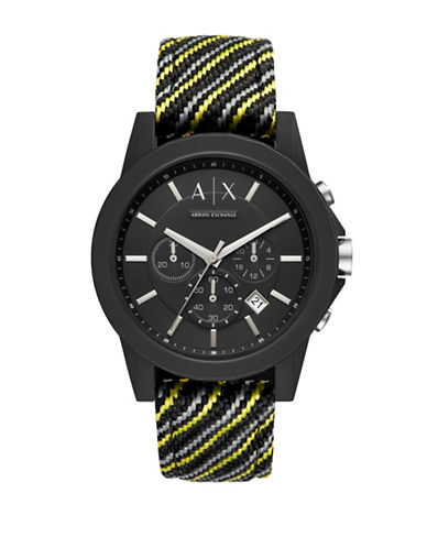 Armani Exchange Chronograph Outerbanks Fabric Strap Watch-MULTI-One Size