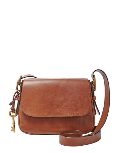 Fossil Harper Small Crossbody-BROWN-One Size