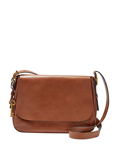 Fossil Harper Large Crossbody-BROWN-One Size