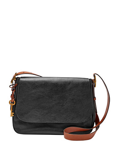 Fossil Harper Large Crossbody-BLACK-One Size