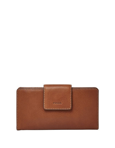 Fossil Emma Tab Clutch-BROWN-One Size