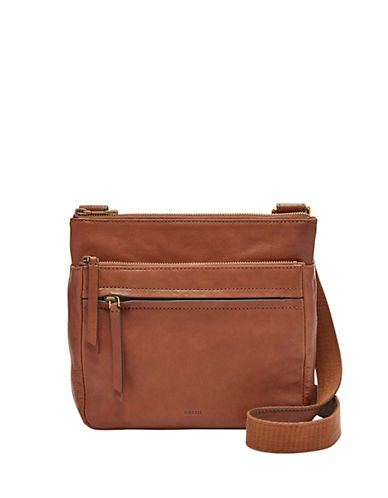 Fossil Corey Leather Crossbody Bag-BROWN-One Size