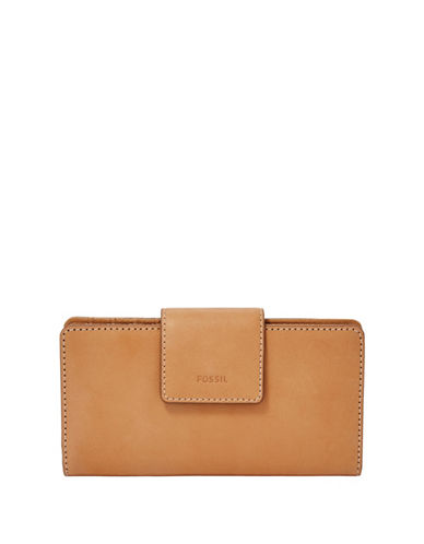 Fossil Emma Tab Clutch-LIGHT BROWN-One Size