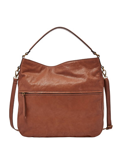 Fossil Corey Zip Bag-BROWN-One Size
