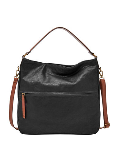Fossil Corey Zip Bag-BLACK-One Size