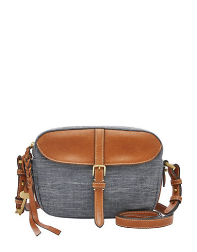 Fossil Kendall Textured Crossbody Bag-CHAMBRAY-One Size