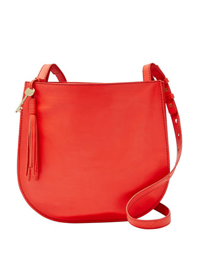 Fossil Brooklyn Large Leather Crossbody Bag-CHILI PEPPER-One Size