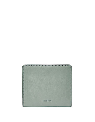 Fossil Emma RFID Mini Leather Wallet-BLUE-One Size
