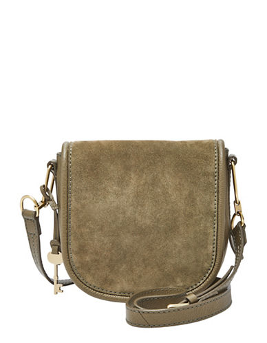 Fossil Rumi Small Leather Crossbody Bag-GREEN-One Size