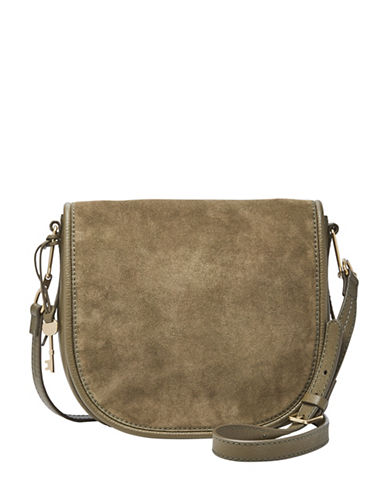 Fossil Rumi Leather Crossbody Bag-GREEN-One Size