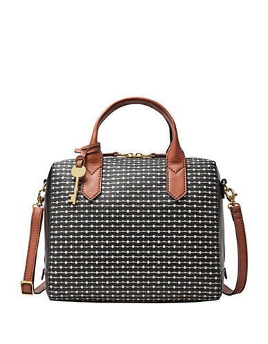 Fossil Fiona Satchel-BLACK-One Size