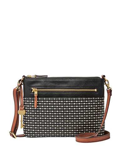 Fossil Fiona Crossbody Bag-BLACK-One Size
