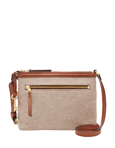 Fossil Fiona EW Crossbody Bag-BEIGE-One Size