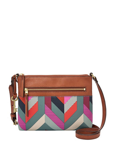 Fossil Fiona Crossbody Bag-BLUE-One Size