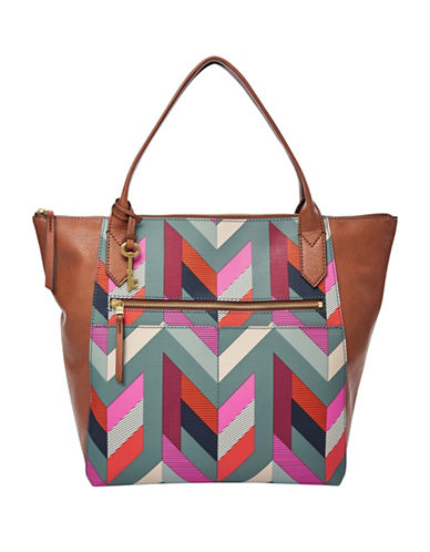 Fossil Fiona Tote-BLUE-One Size
