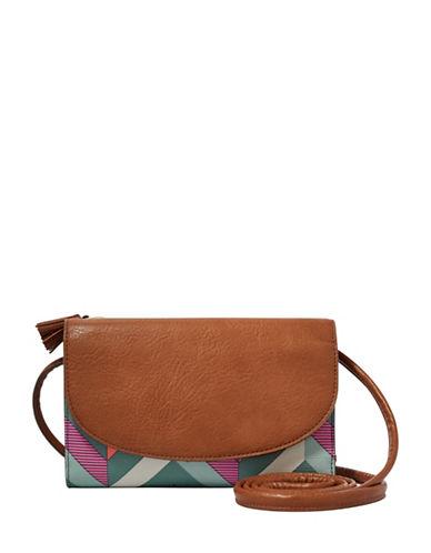 Fossil Sophia Wallet Crossbody Bag-BLUE-One Size