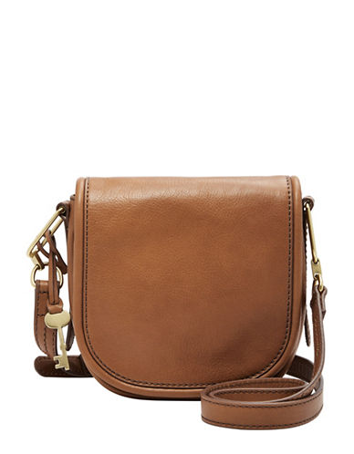 Fossil Rumi Small Leather Crossbody Bag-BROWN-One Size
