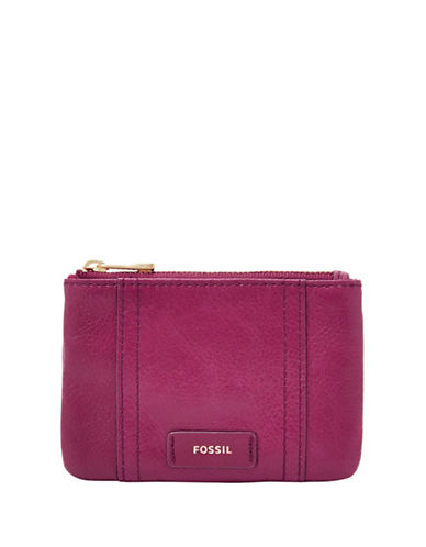 Fossil Ellis Zip Coin Purse-PINK-One Size