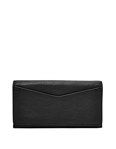 Caroline Leather Flap Continental Wallet by Fossil