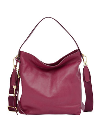 Fossil Maya Small Hobo Bag-PINK-One Size