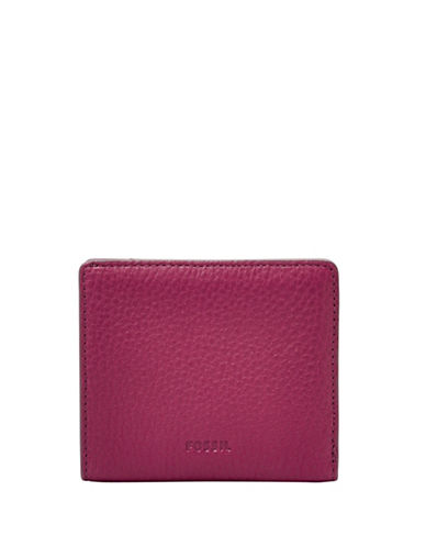 Fossil Emma RFID Mini Leather Wallet-PINK-One Size