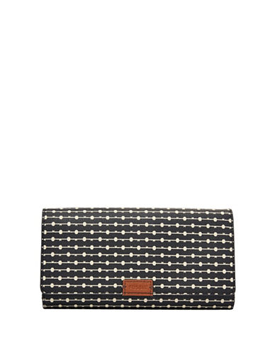 Fossil Emma RFID Flap Clutch-BLACK-One Size