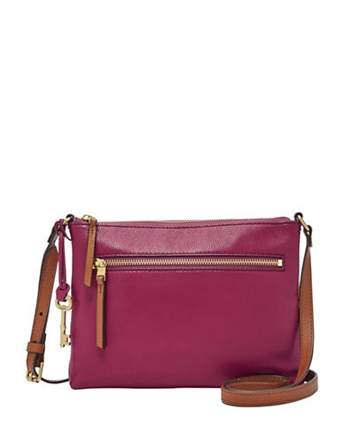 Fossil Fiona EW Pebbled Crossbody Bag-PINK-One Size
