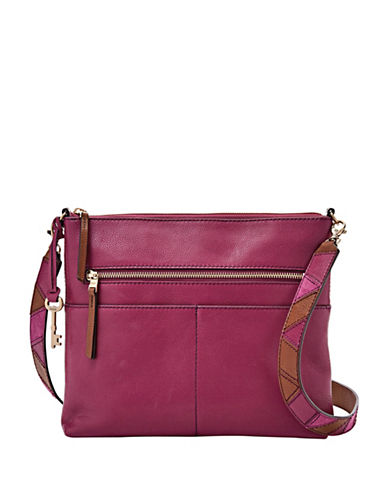 Fossil Fiona Large Crossbody Bag-PINK-One Size