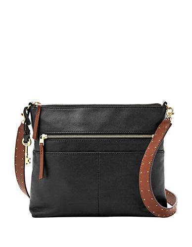 Fossil Fiona Large Crossbody Bag-BLACK-One Size