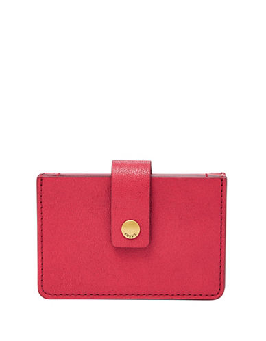 Fossil Compact Mini Tab Wallet-RED-One Size