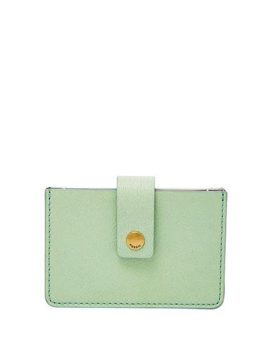 Fossil Mini Tab Wallet-LIGHT GREEN-One Size