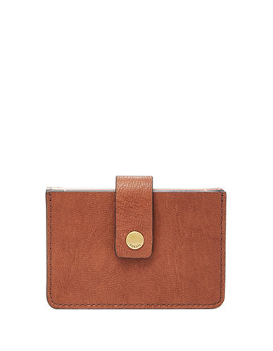 Fossil Mini Tab Wallet-BROWN-One Size