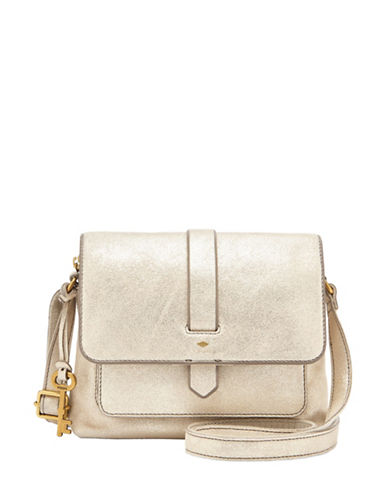 Fossil Kinley Small Crossbody Bag-GOLD-One Size