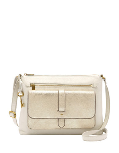 Fossil Kinley Crossbody Bag-GOLD-One Size