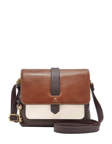 Fossil Kinley Small Crossbody Bag-BEIGE-One Size