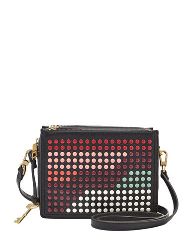 Fossil Campbell Leather Crossbody Bag-MULTI-One Size