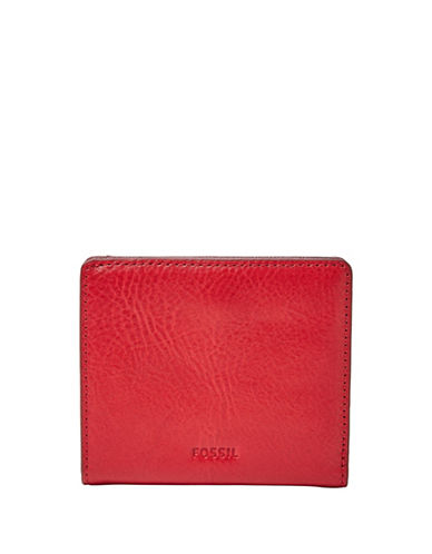 Fossil Emma Twill Mini Wallet-RED-One Size