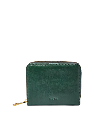 Fossil Emma Mini Leather Wallet-APPLE GREEN-One Size